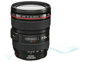 Canon 24-105L IS optika bérlés