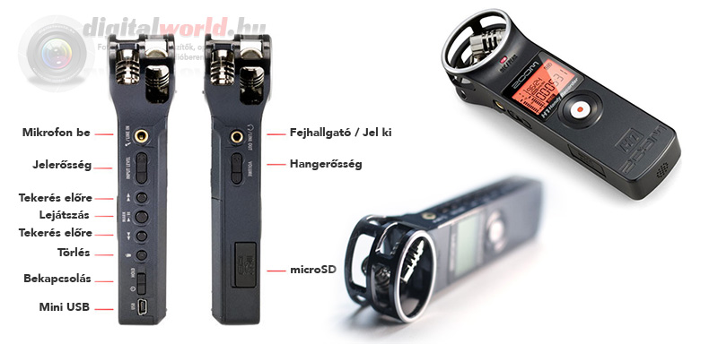 Zoom H1 DSLR mikrofon